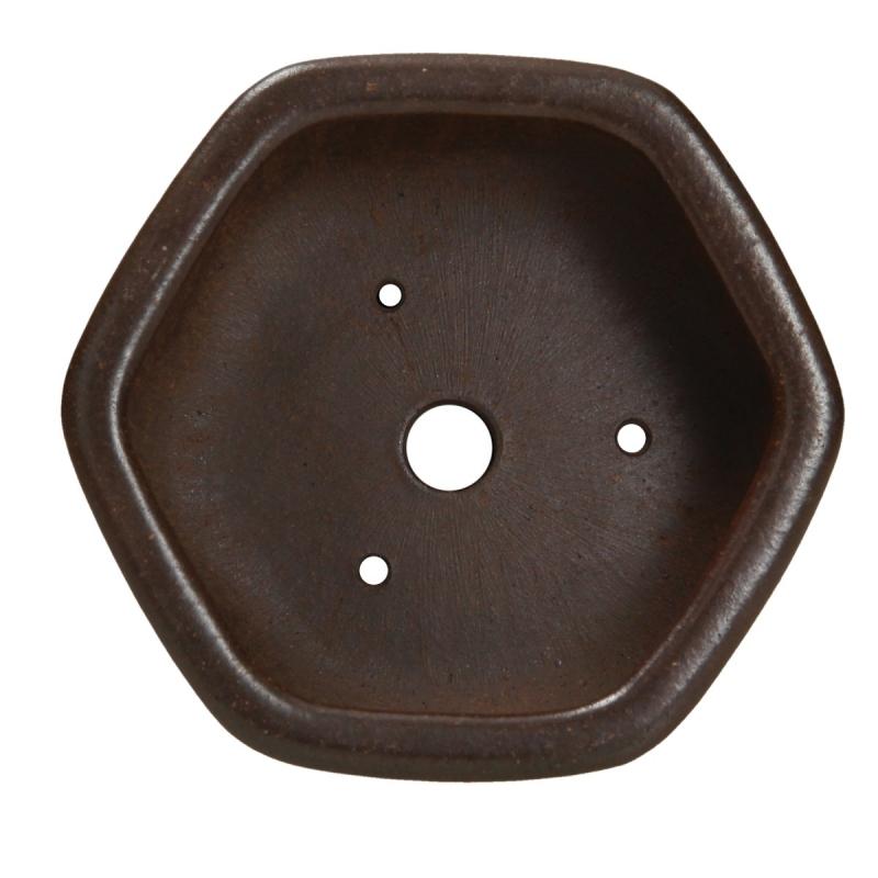 Vaso 11,5 cm esagonale grès - Shuiming