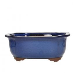 Pot 28,5 cm irregular blue