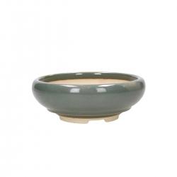Pot 17 cm round green