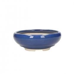 Pot 17 cm round blue