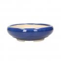 Pot 20 cm round blue