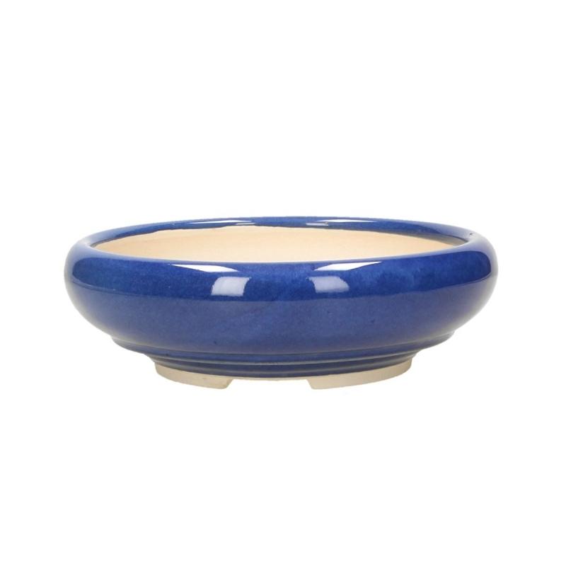 Vaso 20 cm tondo blu