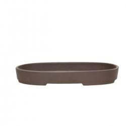 Vaso 19 cm ovale gres