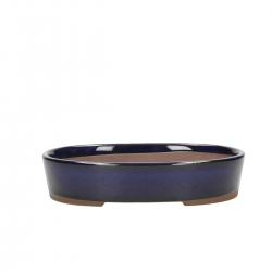 Pot 17cm oval blue