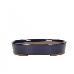 Vaso 17 cm ovale blu