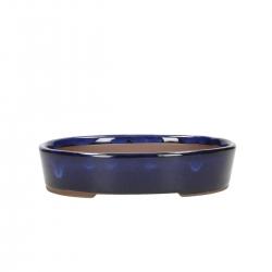 Vaso 19 cm ovale blu