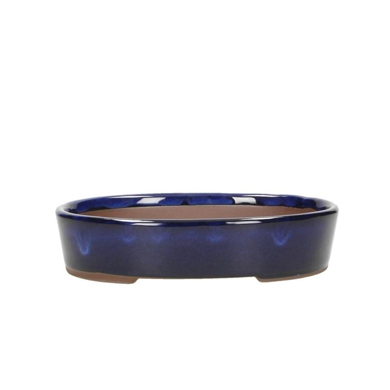 Pot 19 cm oval bleu