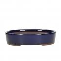Vaso 21,5 cm ovale blu