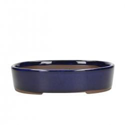 Pot 21,5 cm oval blue