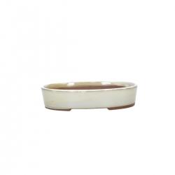Pot 17 cm oval beige