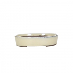 Vaso 19 cm ovale beige