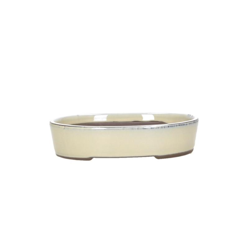 Pot 19 cm oval beige