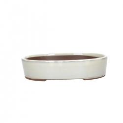 Pot 21,5 cm oval beige