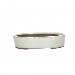 Vaso 21,5 cm ovale beige