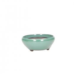 Pot 12 cm round green