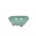 Pot 15 cm round green