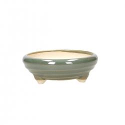 Pot 13 cm round green