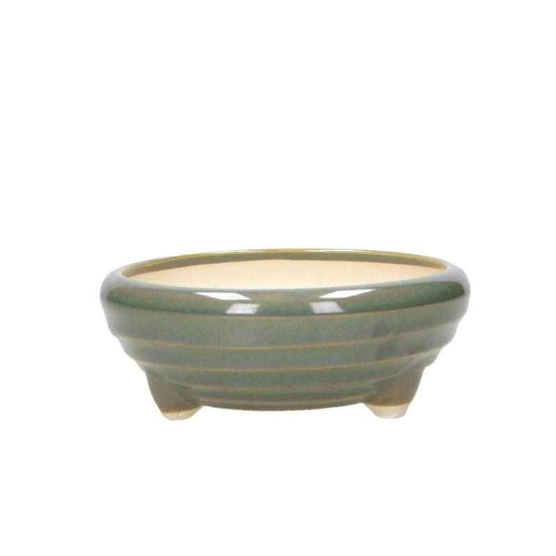 Pot 16 cm round green
