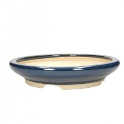 Pot 34 cm rond bleu