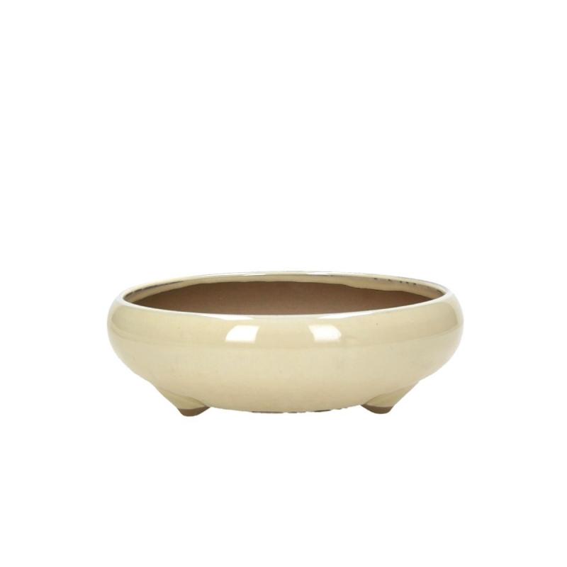Vaso 17,2 cm tondo beige