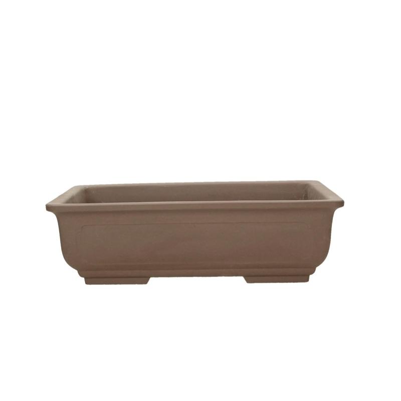 Pot 27,5 cm rectangulaire gres brun