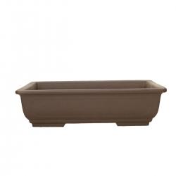 Pot 31,5 rectangulaire gres brun