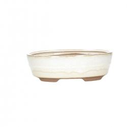 Vaso 21 cm ovale beige