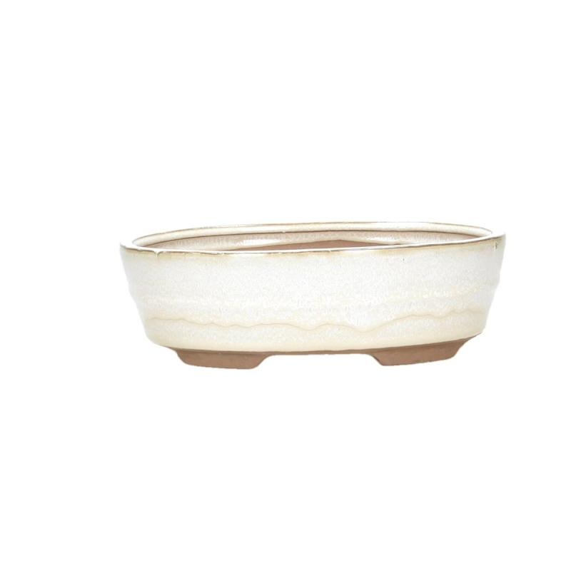 Pot 21 cm oval beige