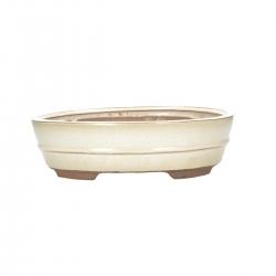 Pot 26 cm oval beige