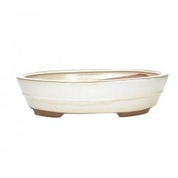 Pot 31 cm oval beige