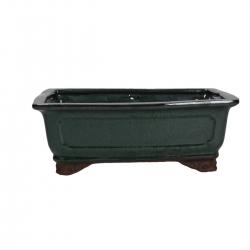 Pot 26 cm rectangular green