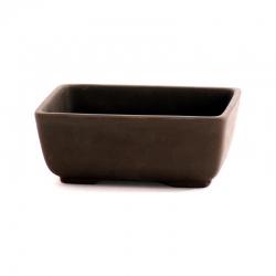 Vaso 12 cm rettangolare gres marrone