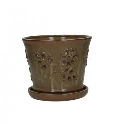 Vaso per Orchidee 19 cm con sottovaso tondo