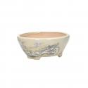 Vaso tondo dipinto a mano - 15 cm