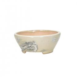 Pot rond peint à la main - 15 cm