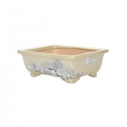 Vaso rettangolare dipinto a mano - 15.5 cm