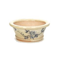 Pot rond peint à la main - 11 cm