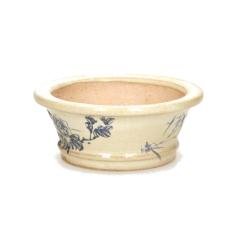 Vaso tondo dipinto a mano - 11 cm
